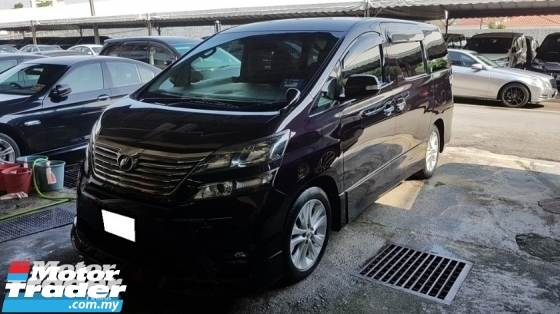 2009 TOYOTA VELLFIRE 2.4 VVTI (A) Z PLATINUM MODEL, ONE CAREFUL OWNER, 7 SEAT, HOME THEATER SURROUND SYSTEM, 2 POWER DOOR, POWER BOOT, 18\
