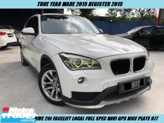 2015 BMW X1 S DRIVE 20i Facelift Local Full Spec Under Warranty Nice Plate 977