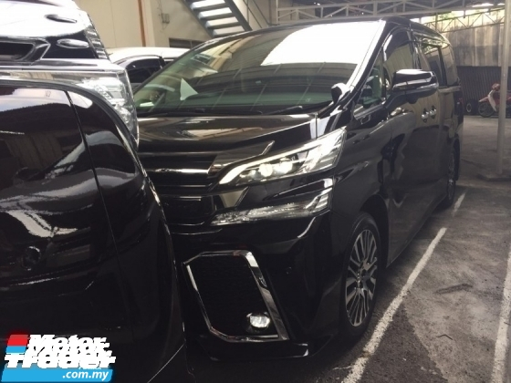 2017 TOYOTA VELLFIRE 2.5 ZG HI SPEC.UNREG.TRUE YEAR MADE CAN PROVE.PILOT SEAT.3 POWER DRS N BOOT.360 SURROUND CAM.MEMORY SEAT.18 INCH SPORT RIM N ETC.FREE WARRANTY N MANY GIFTS