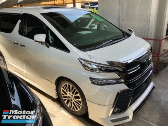 2016 TOYOTA VELLFIRE 2.5 ZG sunroof precrash surround camera power boot unregistered