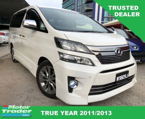 2011 TOYOTA VELLFIRE 2.4 Z PLATINUM (A) SUNROOF GOLDEN RAYA PROMOTION