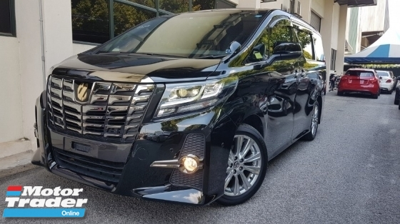 2017 TOYOTA ALPHARD 2017 Toyota Alphard 2.5 SA Type Black Sun Roof JBL 17 Speaker Home Theatre Sound System Power Boot 2 Power Door 7 Seater Unregister for sale