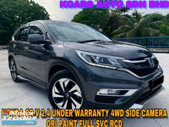 2016 HONDA CR-V 2.4 4WD UNDER WARRANTY ORI PAINT SIDE CAMERA PADDLESHIFT