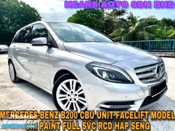 2015 MERCEDES-BENZ B-CLASS B200 ORI PAINT FULL SVC RCD FREE 1 YR WARRANTY