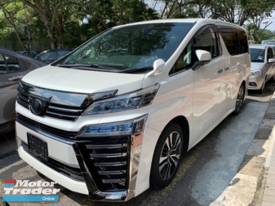 2018 TOYOTA VELLFIRE 2.5 ZG UNREG WHITE PANORAMIC