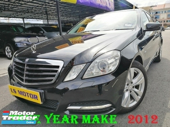 2012 MERCEDES-BENZ E-CLASS E250 CGI BLUE EFFICIENCY AVANTGARDE AUTO - 1 VVIP OWNER - ACC FREE - FULL SERVICE RECORD C&C - NON SMOKER OWNER - RON97 PETROL USER -  FULL LOAN - RM0 D.PAYMENT -