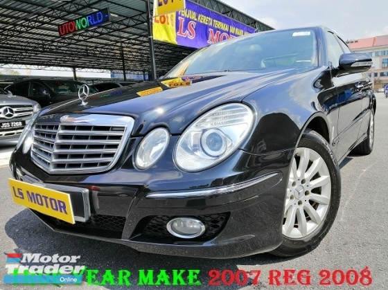 2007 MERCEDES-BENZ E-CLASS E200 1.8 KOMPRESSOR AUTO -  ADVANTGARDE - MEMORY SEAT - FULL SERVICE MERZ BENZ - LEATHER SEAT -ORIGINAL CONDITION - 4NEW MICHELIN - LOAN AVAILABLE - PETROL 97 USER -