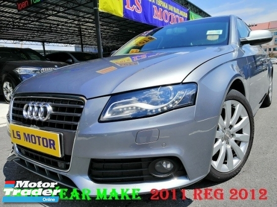 2011 AUDI A4 1.8 TFSI - AUTO - B&O SOUND SYSTEM - 100% - RM 0 D.PAYMENT - LEATHER SEAT - ELECTRONIC SEAT - DAYLIGHT - FULL SERVICE AUDI MAL - 4NEW TYRE-LIKE NEW -VIEW TO BELIEVE -