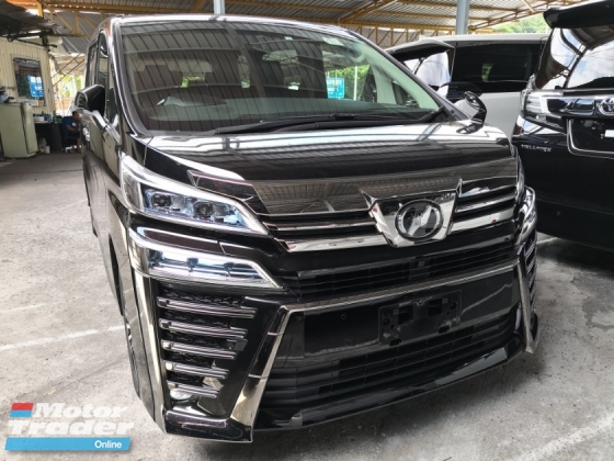 2018 TOYOTA VELLFIRE 2.5 ZG FACELIFTED PRE CRASH UNREG