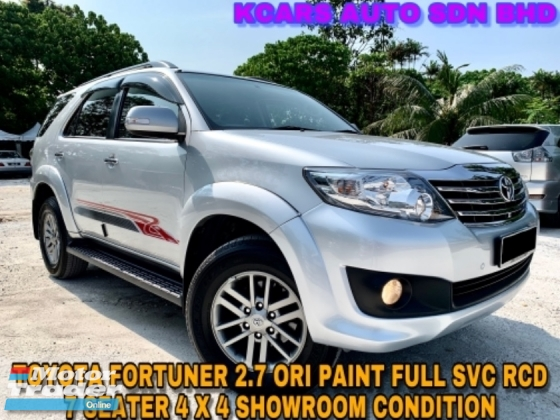 2016 TOYOTA FORTUNER 2.7V ORI PAINT FULL SVC RCD SHOWROOM CONDITION