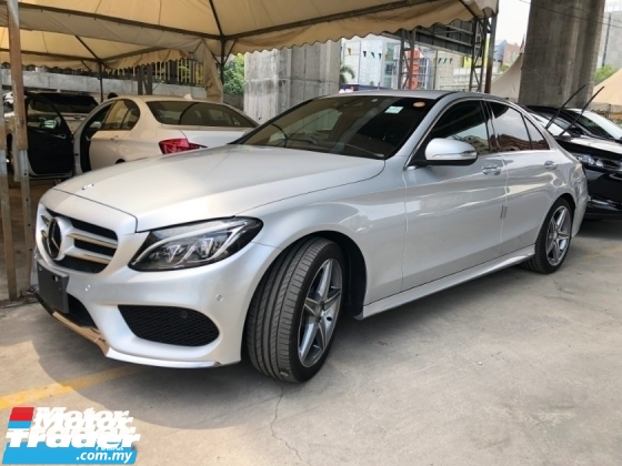 2015 MERCEDES-BENZ C-CLASS C200 AMG 2.0 Turbocharged Memory Bucket Seat Collision Prevention Assist (Pre-Crash) Distronic PLUS Intelligent Full-LED Adaptive Hi-Beam Assist Smart Entry Push Start Button Paddle Shift Steering Bluetooth Connectivity Lane Keep Assist Unreg