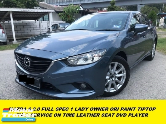 2015 MAZDA 6 2.0 SDN 5EAT 1 LADY OWNER ORI PAINT TIPTOP CONDITION