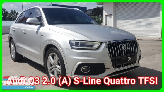2014 AUDI Q3 TFSI Quattro S-Line 2.0 (Datin Owner) Go With Nice Number 96 Confirm Accident Free Confirm No Repair Need Confirm Original Paint Free 1 Year Warranty Worth Buy