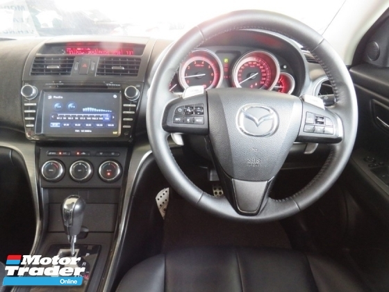 2013 MAZDA 6 2.5 (A) SDN CD DVD GPS Player Sunroof Push Start Paddle Shift Full Leather Seat Tip Top Like New