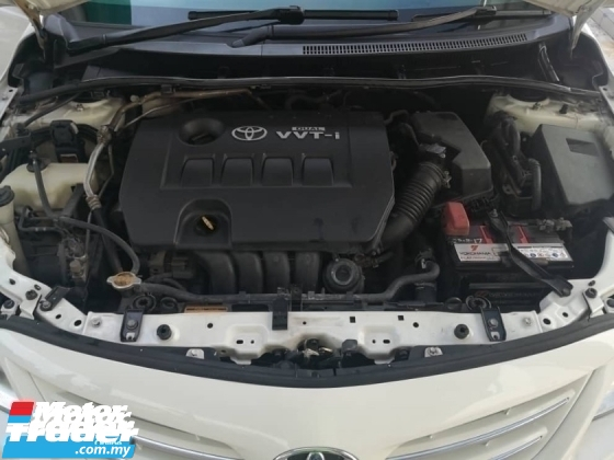 2012 TOYOTA ALTIS 1.8G FACELIFT(A)7 SPEED DUAL VVT I