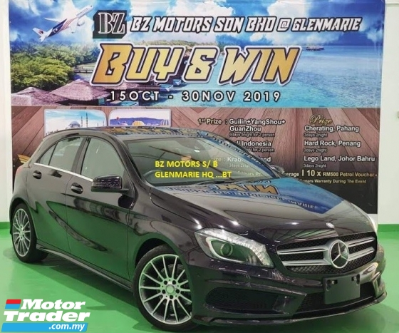 2015 MERCEDES-BENZ A-CLASS 2015 MERCEDES BENZ A180 AMG NIGHT EDITION 1.6 TURBO UNREG JAPAN SPEC CAR SELLING PRICE RM 135000