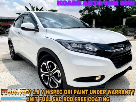 2017 HONDA HR-V 1.8 V ENHANCED H/SPEC UNDER WARRANTY ORI PAINT FREE COATING