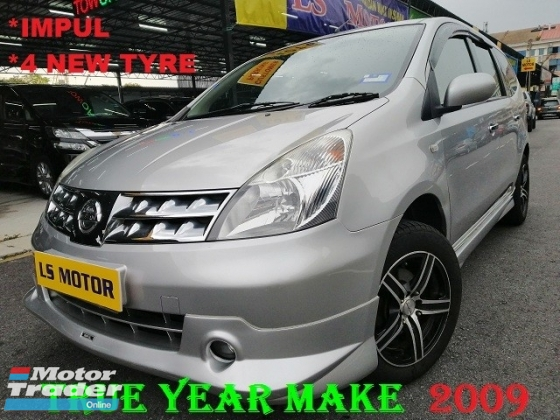 2009 NISSAN LIVINA GRAND LIVINA IMPUL 1.8 AUTO 7SEATER - FULL LEATHER SEAT - 4NEW TYRE - 1LADY OWNER - ACC FREE - FULL SERVICE RECORD NISSAN - WELL MAINTAIN - FULL LOAN -RM0 D.PAYMENT