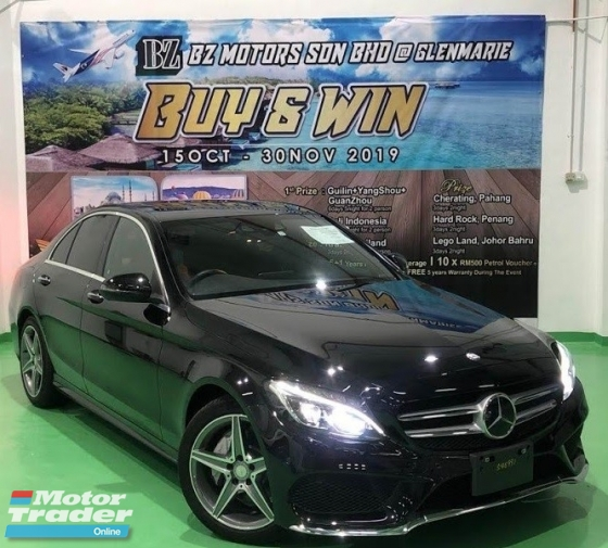 2015 MERCEDES-BENZ C-CLASS 2015 MERCEDES C200 2.0 AMG SPEC ORIGINAL FROM JAPAN UNREG CAR SELLING PRICE RM 195,000.00 NEGO CAR LOAN INTEREST RATE 2.3X % TO 2.6X%