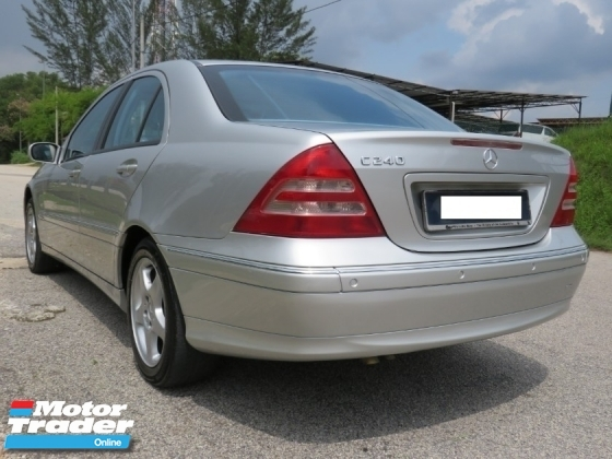 2003 MERCEDES-BENZ C-CLASS C240 2.6 (A) AVANTGARDE One Owner Accident Free Tip Top Condition Must View