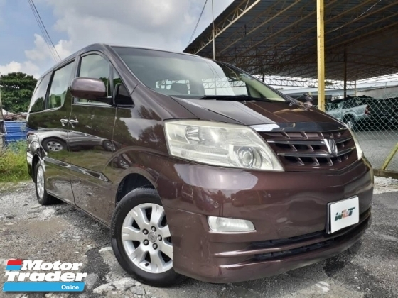 2006 TOYOTA ALPHARD 3.0 (A) G PACKED 7 SEATER CLEAN INTERIOR GOOD CONDITION STOCK CLEARANCE PROMOTION PRICE.
