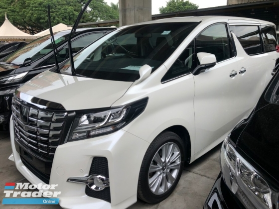 2015 TOYOTA ALPHARD 2.5 SA Edition Sun Roof Moon Roof Automatic Power Boot 360 View Surround Camera 2 Power Doors 7 Seat Intelligent LED Smart Entry Multi Function Steering 3 Zone Climate Auto Cruise 9 Air Bag Unreg