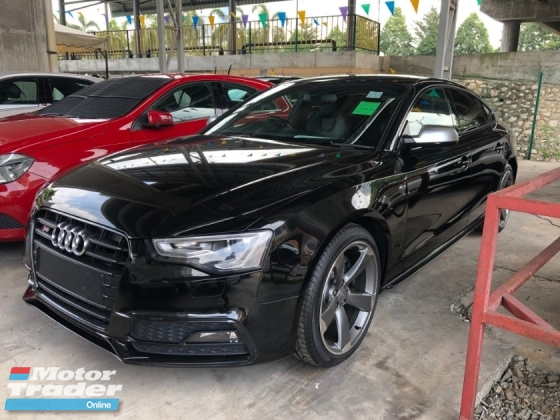 2015 AUDI S5 Black Edition Sport Back 3.0 Turbocharged Push Start Button MMi 3 Bang Olufsen Surround System Bucket Seat Daytime Bi Xenon Light Multi Function Paddle Shift Steering Zone Climate Control Bluetooth Connectivity Unreg