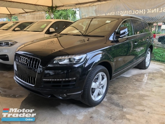 2012 AUDI Q7 3.0 TFSi Petrol 333hp Quattro 8 Speed Smart Entry Push Start Button MMi 3 Automatic Power Boot BOSE Surround Power Seat Xenon LED Paddle Shift Steering Reverse Camera Bluetooth Connectivity Unreg