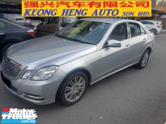 2011 MERCEDES-BENZ E-CLASS E200 1.8 CGI ELEGANCE (CKD Local Spec) (FREE 2 YEARS WARRANTY)