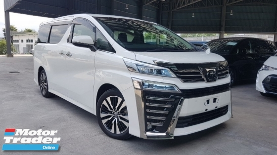 2018 TOYOTA VELLFIRE 2018 Toyota Vellfire 2.5 ZG Facelift Demo Car Sun Roof  3 LED DIM Pre Crash LTA Leather Seat Pilot Seat Power Boot Unregister for sale