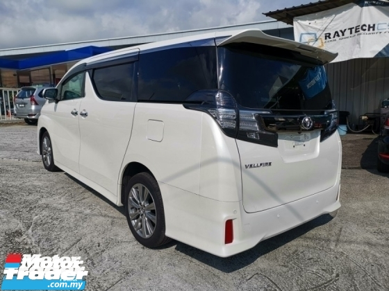 2016 TOYOTA VELLFIRE 2.5Z Golden Eyes Sun Roof 4Cam Unregister
