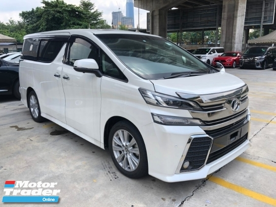 2016 TOYOTA VELLFIRE 2.5 ZA Edition Sun Roof Moon Roof Automatic Power Boot 360 View Surround Camera 2 Power Doors 7 Seat