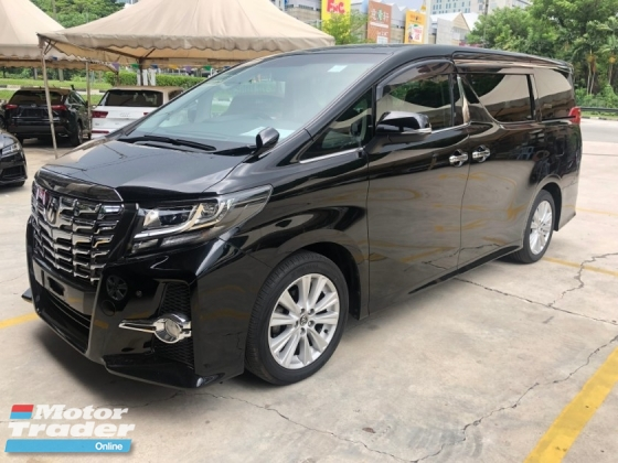 2015 TOYOTA ALPHARD 2.5 SA Edition 360 View Surround Camera 7 Seat Automatic Power Boot 2 Power Doors Smart Entry 3 Zone Climate Control Drive Hold Multi Colors Ambient Roof Light 9 Air Bags Unreg