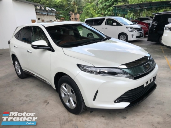 2017 TOYOTA HARRIER 2.0 3AR-FAE New Facelift Panoramic Roof 360 View Camera Automatic Power Boot Pre-Crash Lane Departure Assist Brake Hold Power Seat Intelligent LED Start Stop Engine 9 Air Bag Unreg