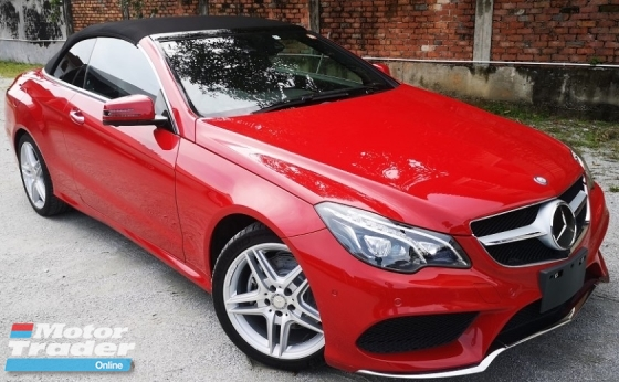 2014 MERCEDES-BENZ C-CLASS 2014 MERCEDES BENZ E250 2.0 CABRIOLET CGI AMG JAPAN SPEC CAR SELLING PRICE ONLY RM 218,000.00 NEGO