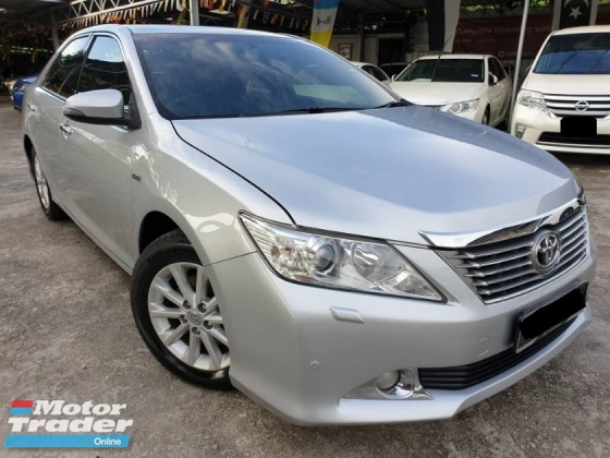 2012 TOYOTA CAMRY 2.0 G VVTI REVERSE CAMERA DUAL ELECTRIC SEAT LEATHER SEAT BLACK INTERIOR 2013