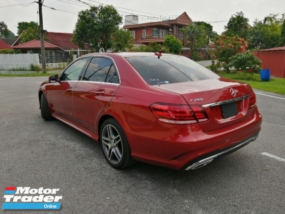 2015 MERCEDES-BENZ E-CLASS E250 AMG 4 CAMERA UNREGISTERED