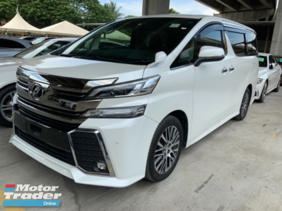 2015 TOYOTA VELLFIRE 2.5 ZG pilot seat 2 power door power boot camera Japan unregistered