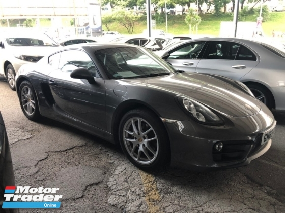 2016 PORSCHE CAYMAN 2.7 PDK 272hp Sport Mode Paddle Shift Steering PCM Bi Xenon Light Automatic Rear Spoiler Dual Zone Climate Control Bluetooth Connectivity 1 Year Warranty Unreg