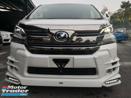 2015 TOYOTA VELLFIRE 2.5ZG TRD LIMITED Edition SUNROOF PRE CRASH