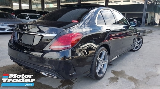 2015 MERCEDES-BENZ C-CLASS 2015 Mercedes C180 AMG Panaromic Roof Pre Crash Blind Spot LKA Leather Unregister for sale