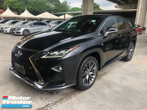 2016 LEXUS RX RX200t F Sport 2.0 Turbocharged Sun Roof 360 Surround Camera Pre Crash Head Up Display Running LED Intelligent Lane Departure Assist Multi Function Paddle Shift Steering Smart Entry Lane Departure Assist Bluetooth Connectivity Unreg