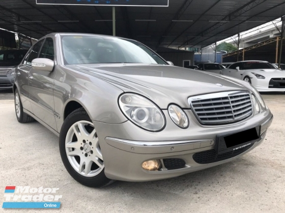 2007 MERCEDES-BENZ E-CLASS E200 K ELEGANCE 1.8 FACELIFT TIP TOP CONDITION