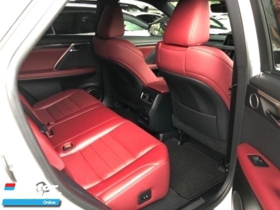 2016 LEXUS RX Unreg Lexus RX200T 2.0 Turbo F Sport 360view PowerBoot Pre Crash Push Start