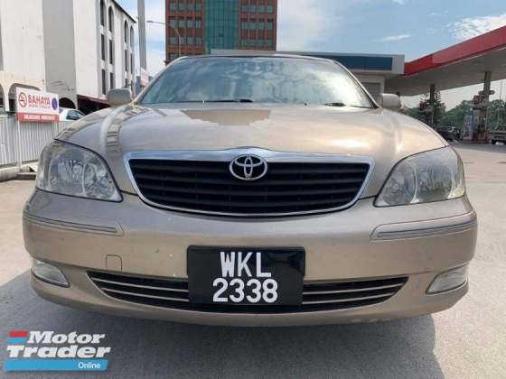 2002 TOYOTA CAMRY 2.4V LEATHER WITH ELECTRIC SEAT,AUTO CRUISE CONTROL,GUARANTEE BEST PRICE IN THE MARKET,TEST DRIVE WELCOME.