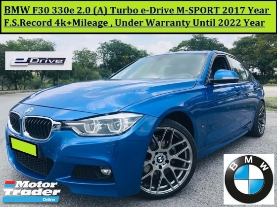 2017 BMW 3 SERIES F30 330e 2.0T (A) F.S.R 4K+ M-SPORT WARRANTY SUNROOF NAVI LOCAL
