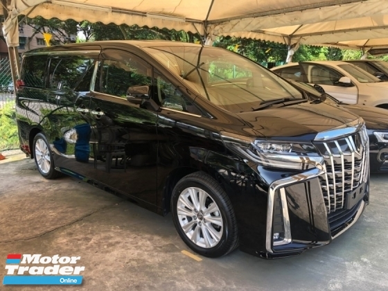 2018 TOYOTA ALPHARD 2.5 SA New Facelift 360 Surround Camera Automatic Power Boot 2 Power Doors Sun Roof Moon Roof Pre-Crash Lane Departure Assist Intelligent Bi-LED Lights Multi Function Steering Drive Hold 9 Air Bags Unreg