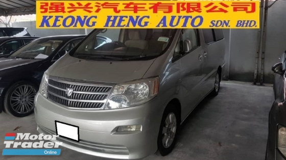 2005 TOYOTA ALPHARD 2.4cc VVTI (A) REG 2009, AX MODEL, CAREFUL OWNER, 8 SEAT, 1 POWER DOOR, REVERSE CAMERA, 16\