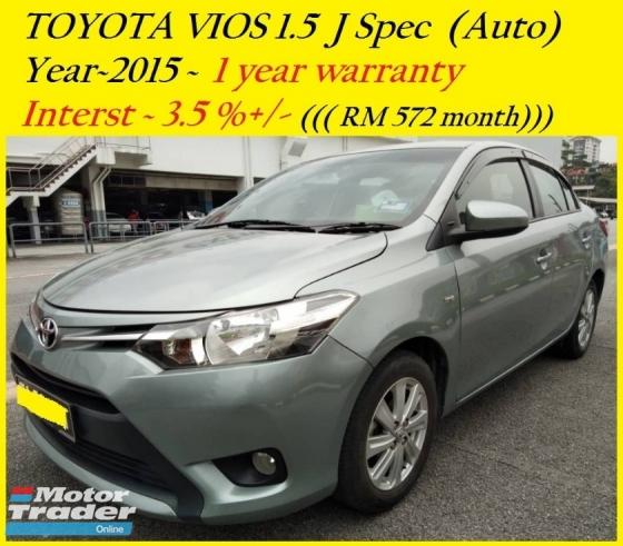 2015 TOYOTA VIOS 1.5J (AT)  1 year warranty  RM49,888 ~ OTR  👍installment RM573 months😊👍