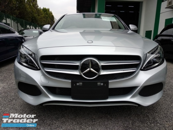 2015 MERCEDES-BENZ C-CLASS C180 AVANTGARDE 1.6 (A) P/Crash JAPAN 4 YEARS WARRANTY UNREGISTERED